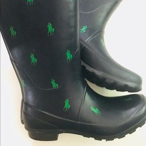 Ralph Lauren Rainboots with Polo All over